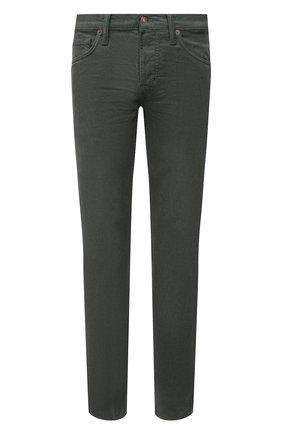 Мужские хлопковые брюки TOM FORD зеленого цвета, арт. BYJ39/TFD002 | Фото 1 (Материал внешний: Хлопок; Длина (брюки, джинсы): Стандартные; Силуэт М (брюки): Прямые; Случай: Повседневный; Стили: Кэжуэл)
