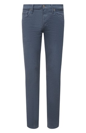 Мужские хлопковые брюки TOM FORD тёмно-голубого цвета, арт. BYJ39/TFD002 | Фото 1