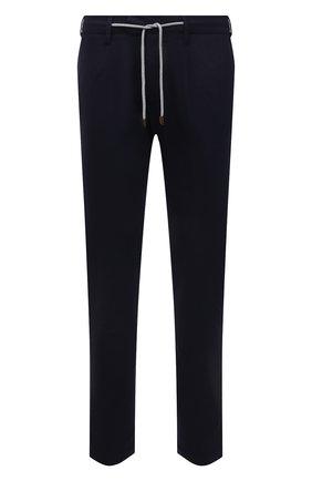 Мужские брюки из шерсти и кашемира ELEVENTY PLATINUM темно-синего цвета, арт. D75PANB21 TES0D037   Фото 1