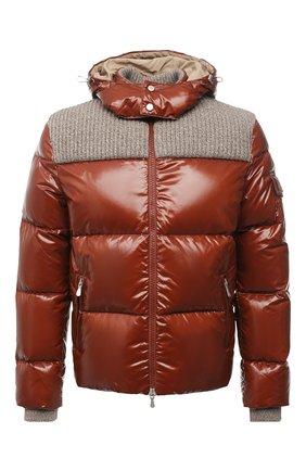 Мужская пуховая куртка ELEVENTY коричневого цвета, арт. D70GBTD03 NYL0D001 | Фото 1