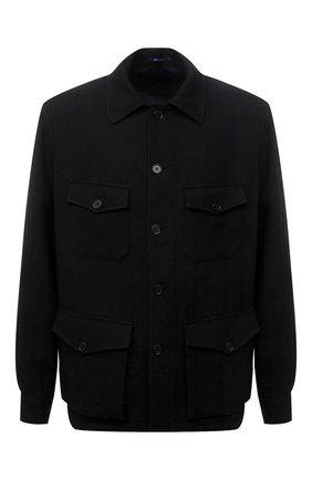 Мужская куртка из шерсти и льна RALPH LAUREN черного цвета, арт. 798843715 | Фото 1