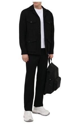 Мужская куртка из шерсти и льна RALPH LAUREN черного цвета, арт. 798843715 | Фото 2