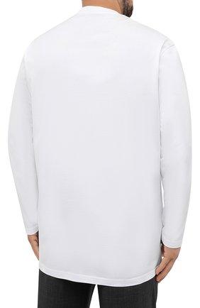 Мужская хлопковый лонгслив PAUL&SHARK белого цвета, арт. 11311643/C00/3XL-6XL | Фото 4