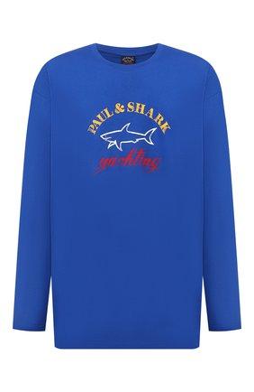 Мужская хлопковый лонгслив PAUL&SHARK синего цвета, арт. 11311643/C00/3XL-6XL | Фото 1