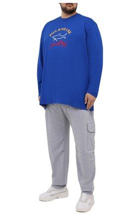 Мужская хлопковый лонгслив PAUL&SHARK синего цвета, арт. 11311643/C00/3XL-6XL | Фото 2