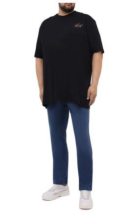Мужская хлопковая футболка PAUL&SHARK черного цвета, арт. 11311658/C00/3XL-6XL | Фото 2