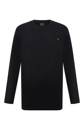 Мужская хлопковый лонгслив PAUL&SHARK черного цвета, арт. C0P1097/C00/3XL-6XL | Фото 1