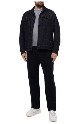 Мужская хлопковая футболка BRUNELLO CUCINELLI светло-серого цвета, арт. M0T717427W | Фото 2