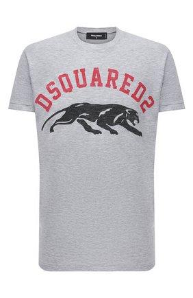 Мужская футболка из хлопка и вискозы DSQUARED2 серого цвета, арт. S74GD0864/S22146 | Фото 1