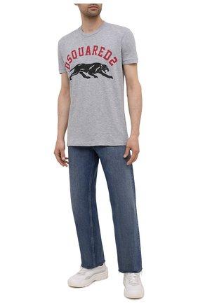 Мужская футболка из хлопка и вискозы DSQUARED2 серого цвета, арт. S74GD0864/S22146 | Фото 2