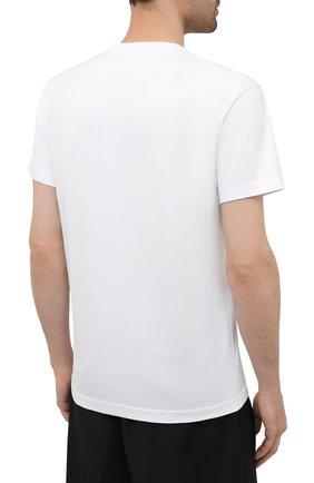 Мужская хлопковая футболка DSQUARED2 белого цвета, арт. S74GD0899/S22844 | Фото 4 (Рукава: Короткие; Длина (для топов): Стандартные; Стили: Гранж; Принт: С принтом; Материал внешний: Хлопок)