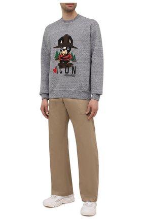 Мужской хлопковый свитшот DSQUARED2 серого цвета, арт. S79GU0047/S25477 | Фото 2