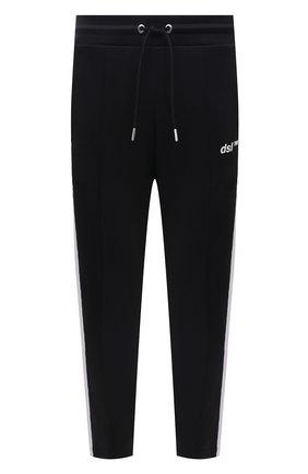 Мужские брюки DIESEL черного цвета, арт. A02728/0GRAT | Фото 1