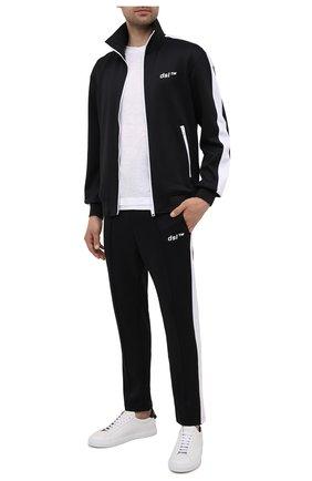 Мужские брюки DIESEL черного цвета, арт. A02728/0GRAT | Фото 2