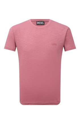 Мужская хлопковая футболка DIESEL розового цвета, арт. A02755/0WBBH | Фото 1