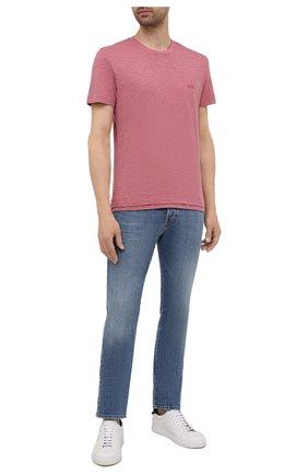 Мужская хлопковая футболка DIESEL розового цвета, арт. A02755/0WBBH | Фото 2