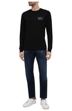 Мужская хлопковый лонгслив DIESEL черного цвета, арт. A02975/0GRAI | Фото 2