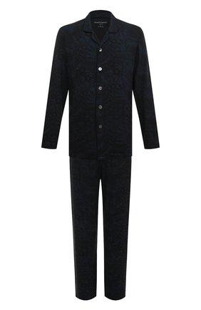 Мужская пижама DEREK ROSE темно-синего цвета, арт. 4070-L0ND003 | Фото 1