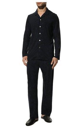 Мужская пижама DEREK ROSE темно-синего цвета, арт. 4070-L0ND003 | Фото 2