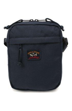 Мужская текстильная сумка PAUL&SHARK темно-синего цвета, арт. 11318105/9< | Фото 1