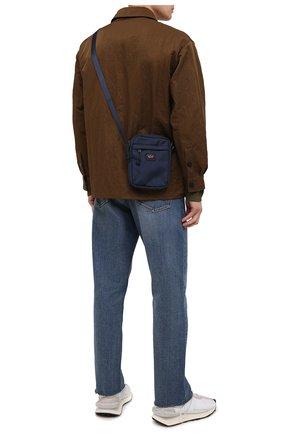 Мужская текстильная сумка PAUL&SHARK темно-синего цвета, арт. 11318105/9< | Фото 2