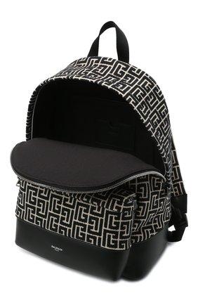 Мужской текстильный рюкзак BALMAIN черного цвета, арт. WM1GE150/TJMY | Фото 4