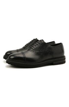 Мужские кожаные оксфорды H`D`S`N BARACCO черного цвета, арт. 81318.M.0* | Фото 1