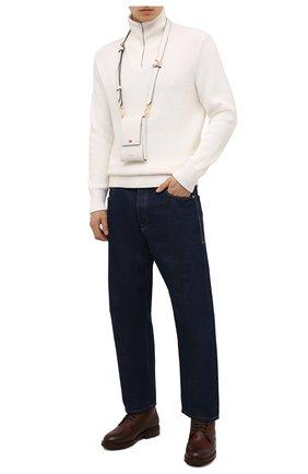 Мужские кожаные ботинки BRUNELLO CUCINELLI коричневого цвета, арт. MZUCRMM893   Фото 2 (Материал внутренний: Натуральная кожа; Подошва: Плоская; Мужское Кросс-КТ: Ботинки-обувь, зимние ботинки; Материал утеплителя: Натуральный мех)