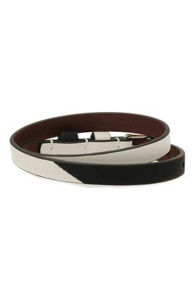Мужской кожаный браслет ALEXANDER MCQUEEN черно-белого цвета, арт. 554466/1AACQ | Фото 2