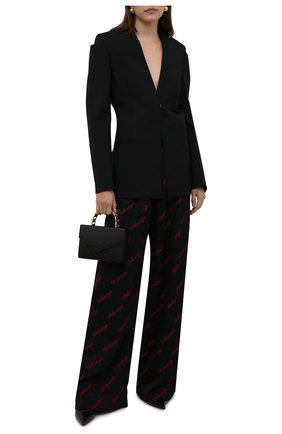 Женские брюки из вискозы BALENCIAGA черного цвета, арт. 659026/TK052 | Фото 2