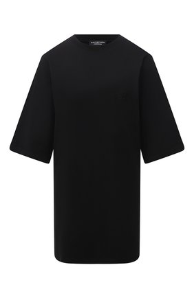 Женская хлопковая футболка BALENCIAGA черного цвета, арт. 651795/TKVA9 | Фото 1