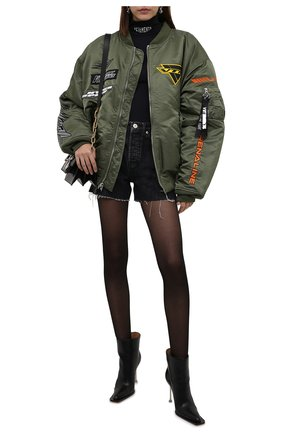 Женский утепленный бомбер VETEMENTS хаки цвета, арт. UA52JA700G 1307/W   Фото 2