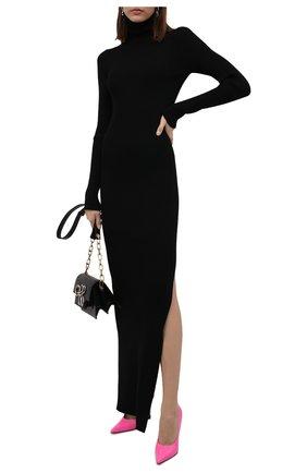 Женское шерстяное платье VETEMENTS черного цвета, арт. WA52KN860B 2901/BLACK   Фото 2