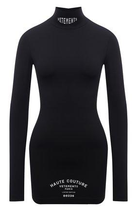 Женское платье VETEMENTS черного цвета, арт. WA52DR180B 2605/BLACK   Фото 1