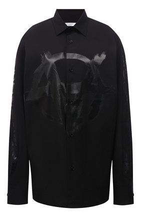 Женская хлопковая рубашка VETEMENTS черного цвета, арт. UA52SH550B 1005/W   Фото 1