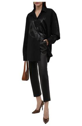 Женская хлопковая рубашка VETEMENTS черного цвета, арт. UA52SH550B 1005/W   Фото 2