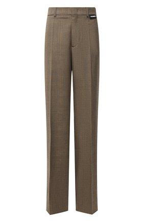 Женские шерстяные брюки VETEMENTS темно-бежевого цвета, арт. MA52PA540C 1204/W   Фото 1