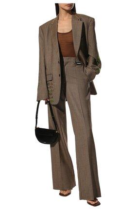 Женские шерстяные брюки VETEMENTS темно-бежевого цвета, арт. MA52PA540C 1204/W   Фото 2