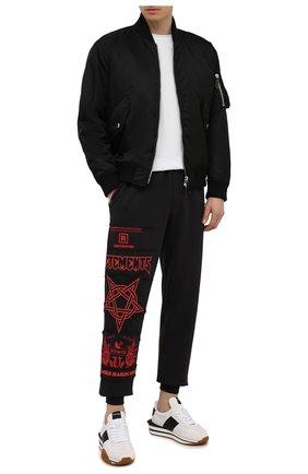 Мужские хлопковые джоггеры VETEMENTS черного цвета, арт. UA52PA350R 1606/M | Фото 2