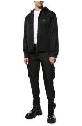 Мужские кожаные ботинки monolith PRADA черного цвета, арт. 2UE007-3LFR-F0002-D002 | Фото 2
