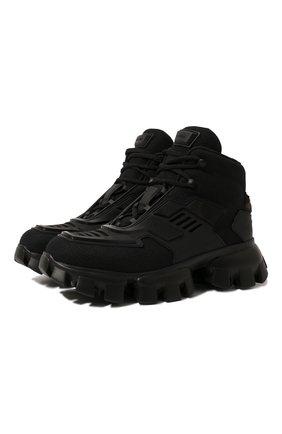 Женские кроссовки cloudbust thunder PRADA черного цвета, арт. 1T648M-3KR2-F0002-050 | Фото 1 (Материал внешний: Текстиль; Кросс-КТ: хайтопы; Подошва: Массивная)