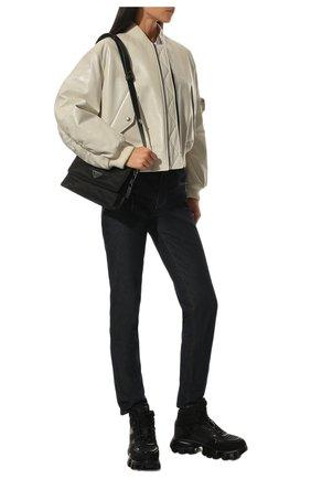 Женские кроссовки cloudbust thunder PRADA черного цвета, арт. 1T648M-3KR2-F0002-050 | Фото 2 (Материал внешний: Текстиль; Кросс-КТ: хайтопы; Подошва: Массивная)
