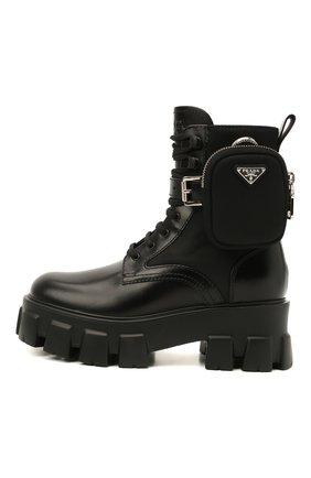 Женские кожаные ботинки monolith PRADA черного цвета, арт. 1T255M-3L09-F0002 | Фото 2