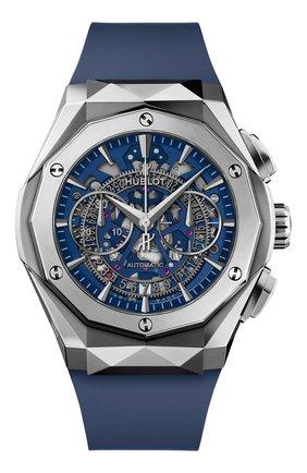 Мужские часы aerofusion chronograph orlinski titanium blue HUBLOT бесцветного цвета, арт. 525.NX.5170.RX.ORL21 | Фото 1