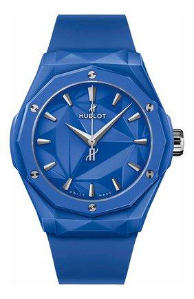 Мужские часы classic fusion orlinski blue ceramic HUBLOT бесцветного цвета, арт. 550.ES.5100.RX.ORL21 | Фото 1