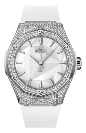 Женские часы orlinski titanium white pavé HUBLOT бесцветного цвета, арт. 550.NS.2200.RW.1604.ORL20 | Фото 1
