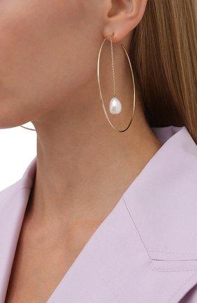 Женские серьги J-POINT золотого цвета, арт. ТДБрио80105.4Y   Фото 2 (Материал: Золото)