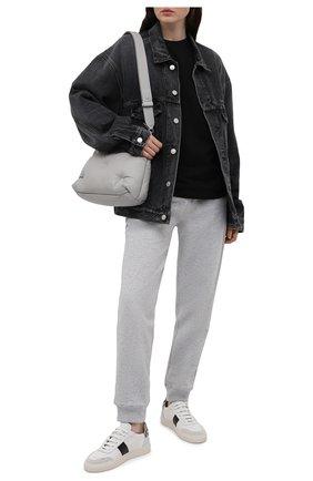 Женские хлопковые джоггеры BOSS серого цвета, арт. 50462823   Фото 2