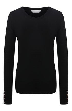 Женский шерстяной пуловер BOSS черного цвета, арт. 50376532   Фото 1