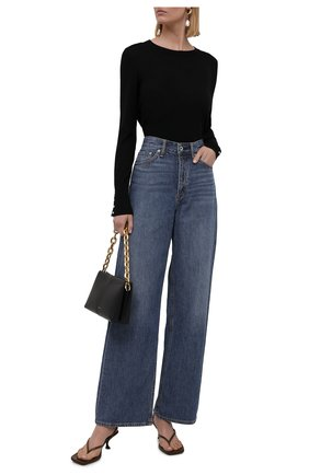 Женский шерстяной пуловер BOSS черного цвета, арт. 50376532   Фото 2